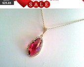 Red Ruby wedding Necklace - Gemstone Necklace - bridesmaid gifts,Wedding jewelry,mother's day gift