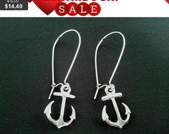 Anchor Kidney Earrings - Drop Earrings, Dangle Earrings