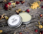 Natural Herbal Lip Balm, Lavender, Honey, Beeswax, Romantic Gift, Floral, Lip Butter