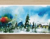 """Baby It's Cold Outside - Studio Liquid Flux Christmas Cards - 4"""" x 8"""" Horizontal - 75 Pack"""