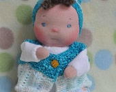 "SALE! Fretta's 8.5"" / 21.5 cm OOAK Soft Baby Doll. Baby's First Doll. Child friendly non-jointed Soft Sculpt Baby."