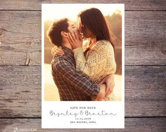 Save the Date Postcard, Save-the-Date Card, Calendar, Photo, DIY Printable, Digital File – Brynley