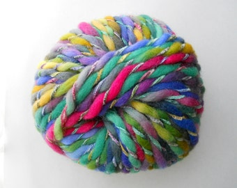 Rainbow Merino Wool-Blend Yarn, Cocotte by Laines du Nord yarns, Chunky-Weight Yarn