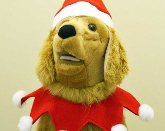 Christmas Dog Santa Costume Large Dog - Halloween or Christmas Costume Made to Order
