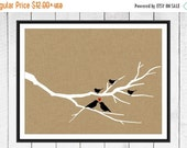 ONSALE Family Tree Branch Print - Birds & Baby Birds - Home Decor