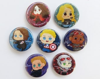 Team Captain America Civil War Buttons