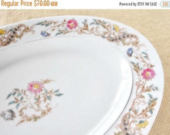On Sale Vintage French Inspired Haviland-Limoges Platter, Large, Meat Platter, Fine China, Shabby Chic, Cottage Chic, Wedding