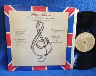 "Vintage, Henry Mancini - ""Conducts The London Symphony Orchestra, A Concert Of Film Music. Vinyl LP, Record Album, Jaws, The Godfather"