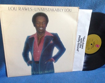 "Vintage, Lou Rawls - ""Unmistakably Lou"", Vinyl LP, Record Album, Spring Again, Some Folks Never Learn, R&B, Soul"