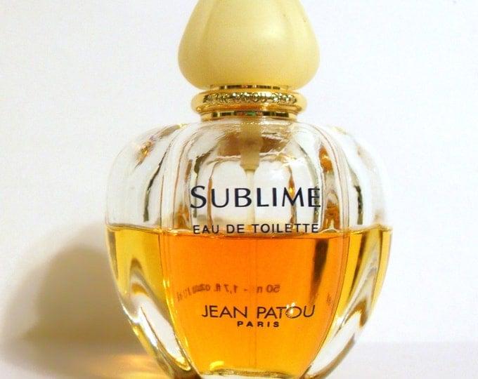 Vintage 1990s Sublime by Jean Patou 1.7 oz Eau de Toilette Spray PERFUME