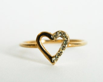 Heart Cutout Ring - Vintage Heart Ring