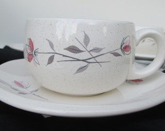 Franciscan Gladding McBean Rose Duet Cups and Saucers - Set of 6