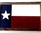 Vintage Texas USA Wood Flag, Hand made Americana, patriotic wood wall decor folk art rustic wall hanging , farmhouse style painted wood sign