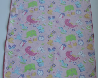 Waterproof Soft Baby Changing Mat-Diaper Changing Mat-Diaper Changing Pad-Waterproof Soft Baby Changing Pad Full of Pink and Purple Animals