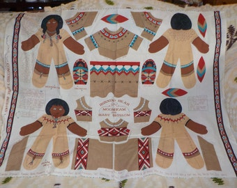 Cut N Sew Indian Pair of Dolls and Baby Sweet  :)S Gift Idea Not Included in Coupon Discount Sale