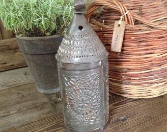 rustic handcrafted tin lantern french farmhouse garden lighting decor prop - Farmhouse Garden Decor