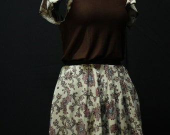 Unique Skirt and Versatile Top Outfit