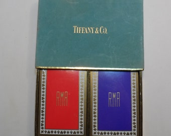 Sealed Tiffany & Company Playing Cards Monogrammed 'RMA' Unopened Double Deck and Box