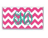 Personalized Checkbook Cover, Monogrammed Checkbook Cover, Design Your Own, Pink Chevron