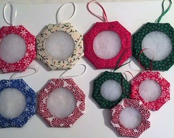 LOT 9 Tuck Ornaments, Christmas, Stitchable for Cross Stitch Embroidery