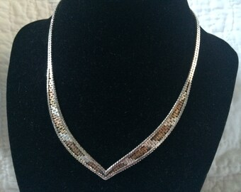 Vintage 925 Sterling Silver Italy Necklace, 14'' Long