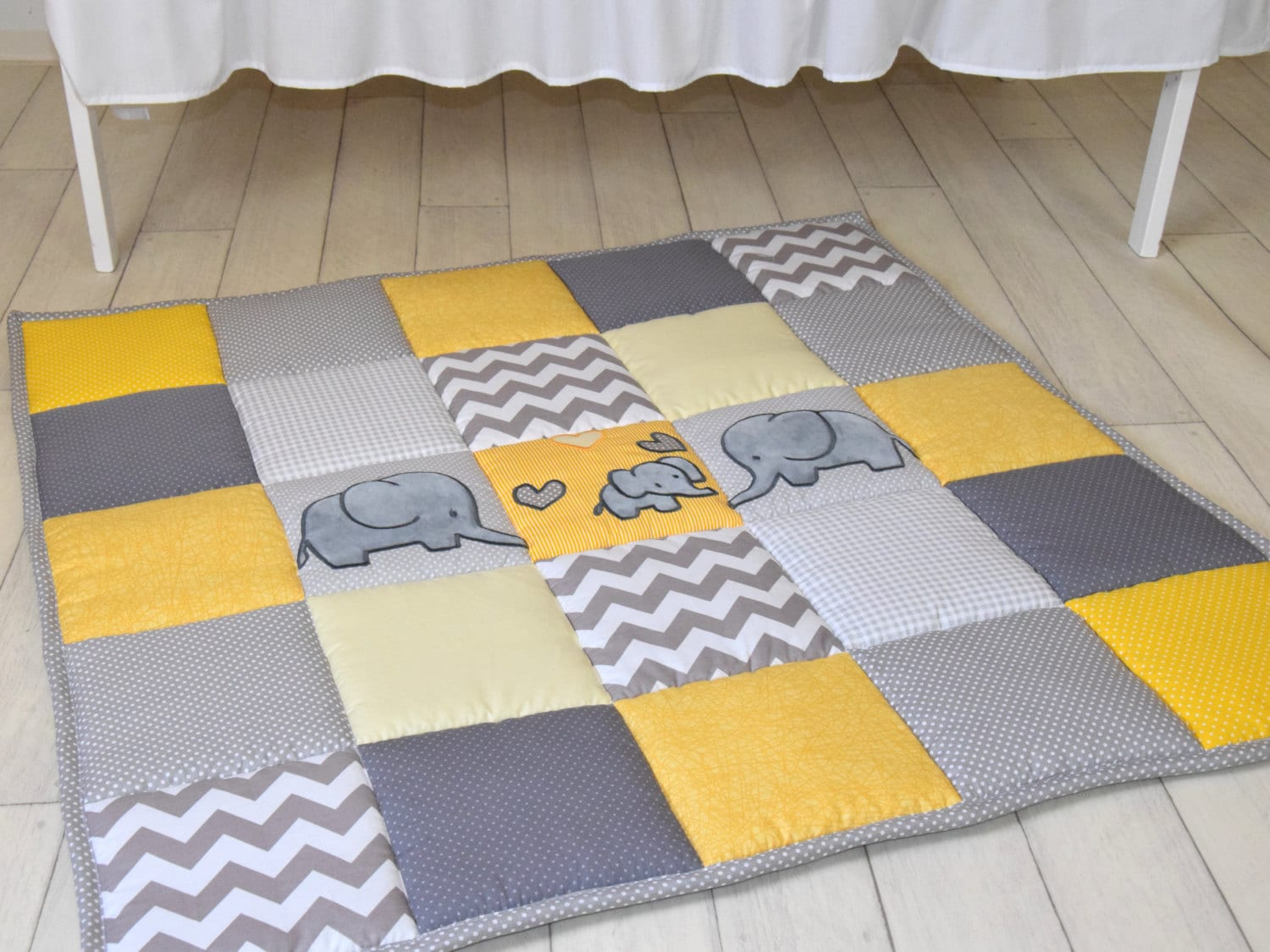 gray elephant playmat yellow play mat floor gym crawl mat baby mat thick large and soft. Black Bedroom Furniture Sets. Home Design Ideas
