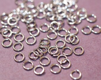 4mm Silver Jump rings 150pc open/close links