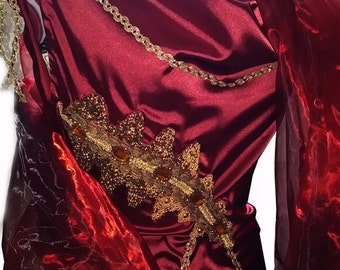 MADE TO ORDER Cosplay Lucilla Spartacus inspired dress Roman Empire Imperial Princess Goddes
