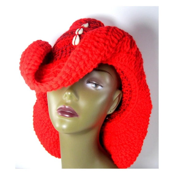 Cowboy Cowry Shell Loc Dreadlock Cap Hat