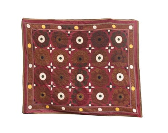 6.30' x 7.55' Suzani Vintage Suzani Old Embroidery Pastel Suzani Hanging Uzbek Suzani Ethnic Suzani FAST SHIPMENT with ups or fedex - 08501