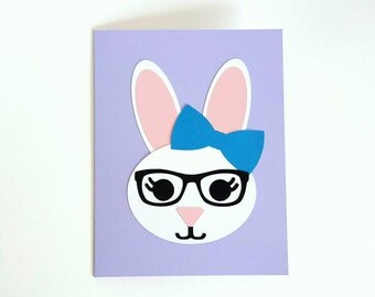 honey bunny card kit - makes 4 diy folded cards