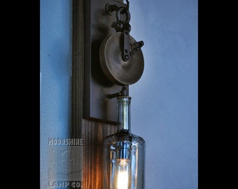 The Chandler - Wood Pulley Wall Sconce