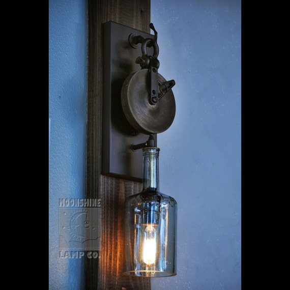 The Chandler Wood Pulley Wall Sconce
