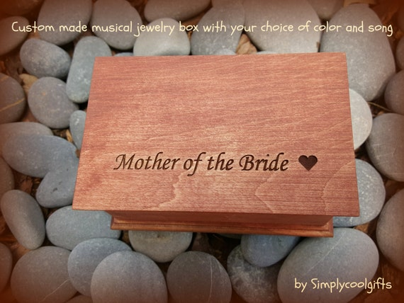 wedding gift box musical jewelry box mother of the bride