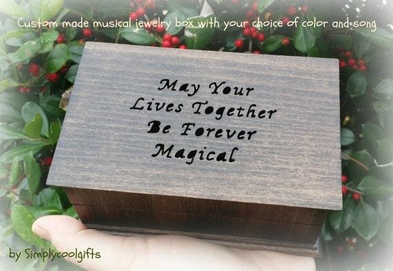 Wedding Gift Music Box : music box, custom jewelry box, wedding gift, musical jewelry box ...