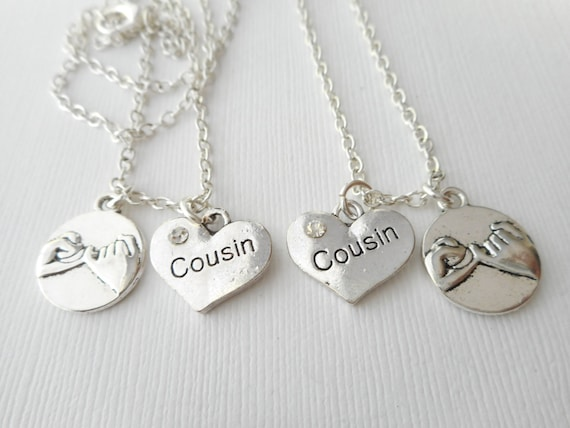 2 promise cousin best friend necklaces promise