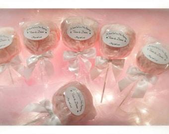 Cotton Candy Pops Custom label (30 pops)