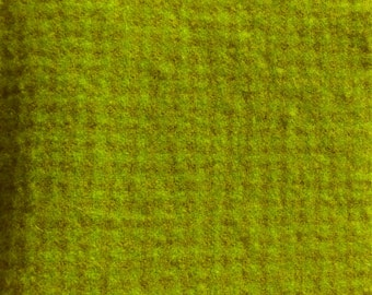 Hand Dyed Felted Wool - Chartreuse Houndstooth