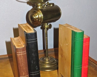 Vintage Bookends Handcrafted Schoolhouse Wooden Books, Handmade by Merle Hansen