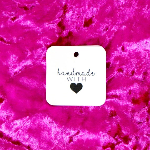 "HANDMADE With Love Tags - White -  1.5"" x 1.5"" -  Hang Tags. Packaging. Thank You Tags. Business Tags. Custom Packaging. Gift Tags. Labels."