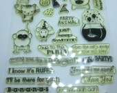 Gently Used Party Animals Stamp Set, My Sentiments Exactly, Kawaii Critters, Happy Birthday Stamp set