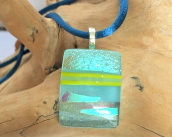 Light Teal Glass Pendant