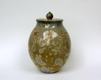 Amber Crystalline Cremation Urn