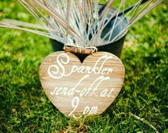Wooden sparker sendoff sign