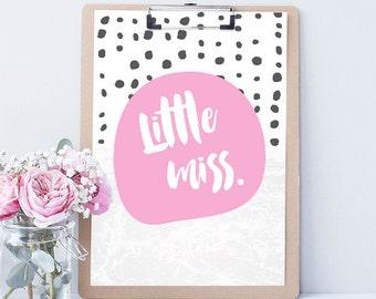 Little Miss Print - Fushcia