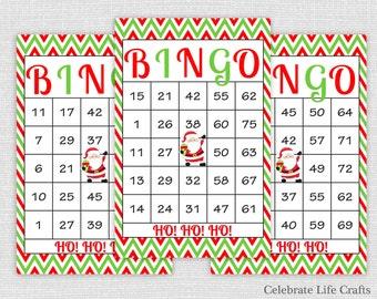 30 Rudolph Christmas Bingo Cards DIY Printable Game for