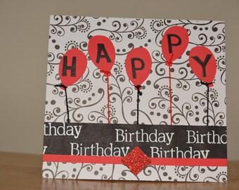 Happy Birthday Balloon Greeting Card