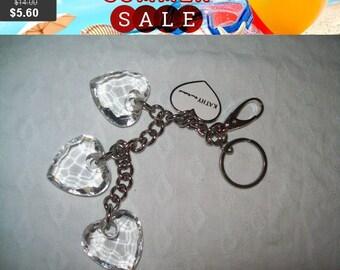 SALE 60% Off Kathy Ireland chunky heart key fob key chain