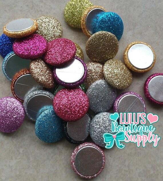 Glitter Buttons Flat Back Glitter Buttons Boutique Supplies