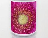 Hot Pink Gerbera Daisy Ceramic Coffee Mug, Fine Art Photography, Photo Mug, Coffee Mug, Unique Mug, Flower Mug, Beverage, Flower Photography